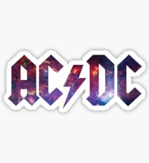 ACDC Purple Galaxy Sticker