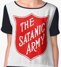 the satanic army Chiffon Top
