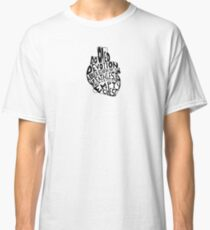 empty chest : anatomical heart (small) Classic T-Shirt