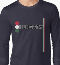 Hungary Football or Soccer Jersey Style Long Sleeve T-Shirt