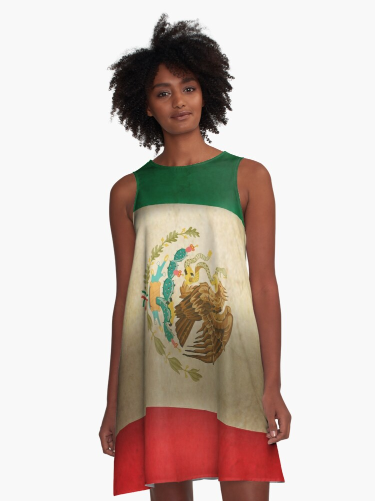Grunge Flagge Mexiko...