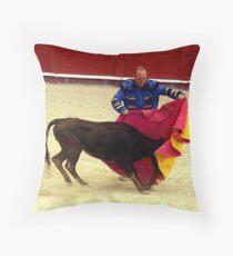 Novice bullfighter  Throw Pillow