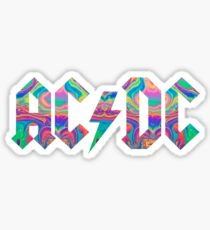 ACDC Neon Marble Sticker