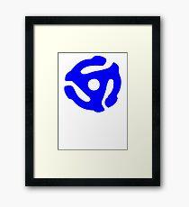 Blue 45 Vinyl Record Symbol Framed Print