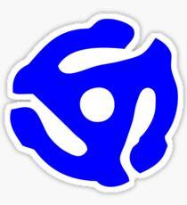 Blue 45 Vinyl Record Symbol Sticker