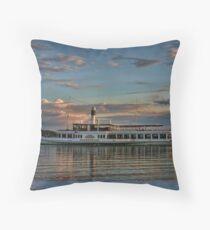 Bavarian Steamboat Throw Pillow