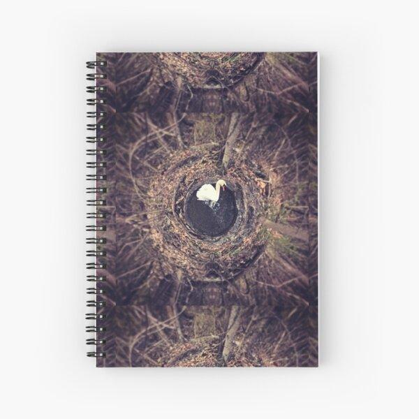 Lone Swan Spiral Notebook
