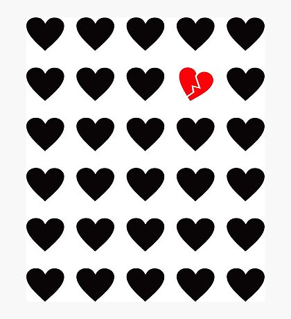 odd heart out Photographic Print