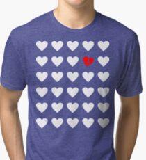 odd heart out Tri-blend T-Shirt