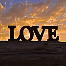 LOVE at Sunset on the Central Oregon Coast by Chrissy Ferguson