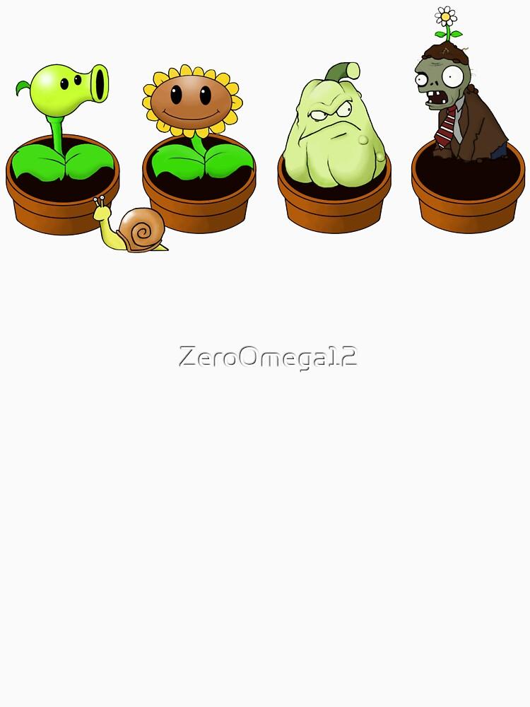 """""""Plants Vs Zombies: Zen Garden"""" T-shirt By ZeroOmega12"""