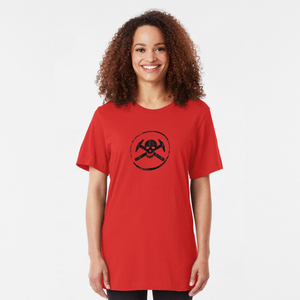 Architectural Jolly Rogers Ink Stamp Slim Fit T-Shirt