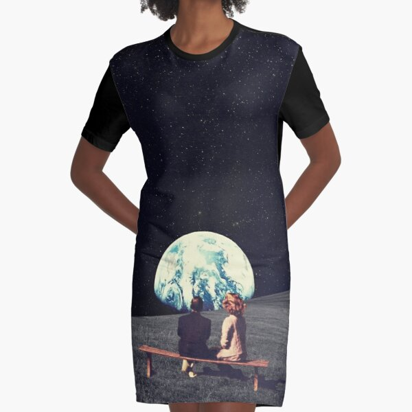 We Used To Live There Graphic T-Shirt Dress