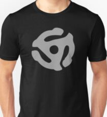 Gray 45 Vinyl Record Symbol T-Shirt
