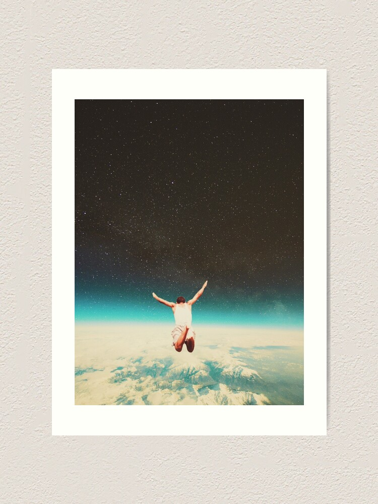 Alternate view of Falling with a hidden smile Art Print