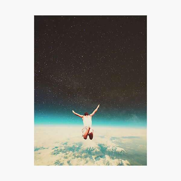 Falling with a hidden smile Photographic Print