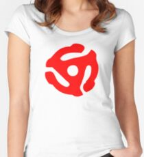 Red 45 Vinyl Record Symbol Women's Fitted Scoop T-Shirt