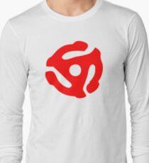 Red 45 Vinyl Record Symbol Long Sleeve T-Shirt