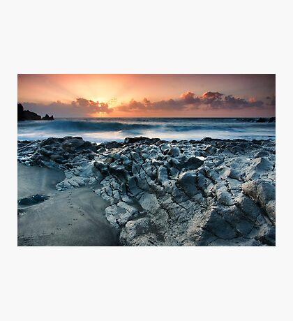 On the Lava Shore Photographic Print