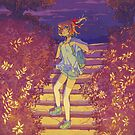 « Nanami in the stairs - Eternity light novel original illustration » par Sedeto