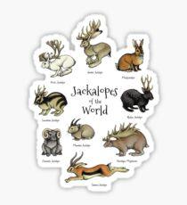 Jackalopen der Welt Sticker