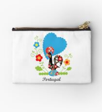 Rooster from Portugal with flowers Studio Pouch