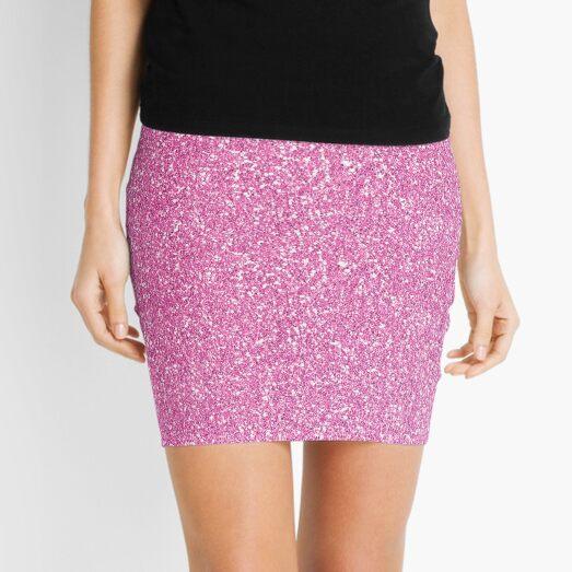 pink glitter Mini Skirt