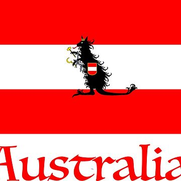 Austrian Kangaroo Flag by downbubble17