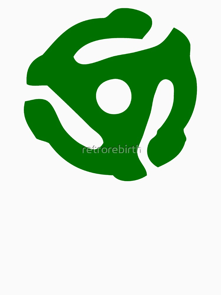 Green 45 Vinyl Record Symbol | Unisex T-Shirt