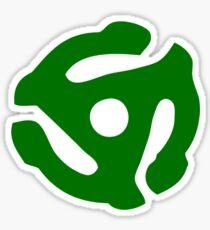 Green 45 Vinyl Record Symbol Sticker