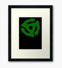 Green 45 Vinyl Record Symbol Framed Print