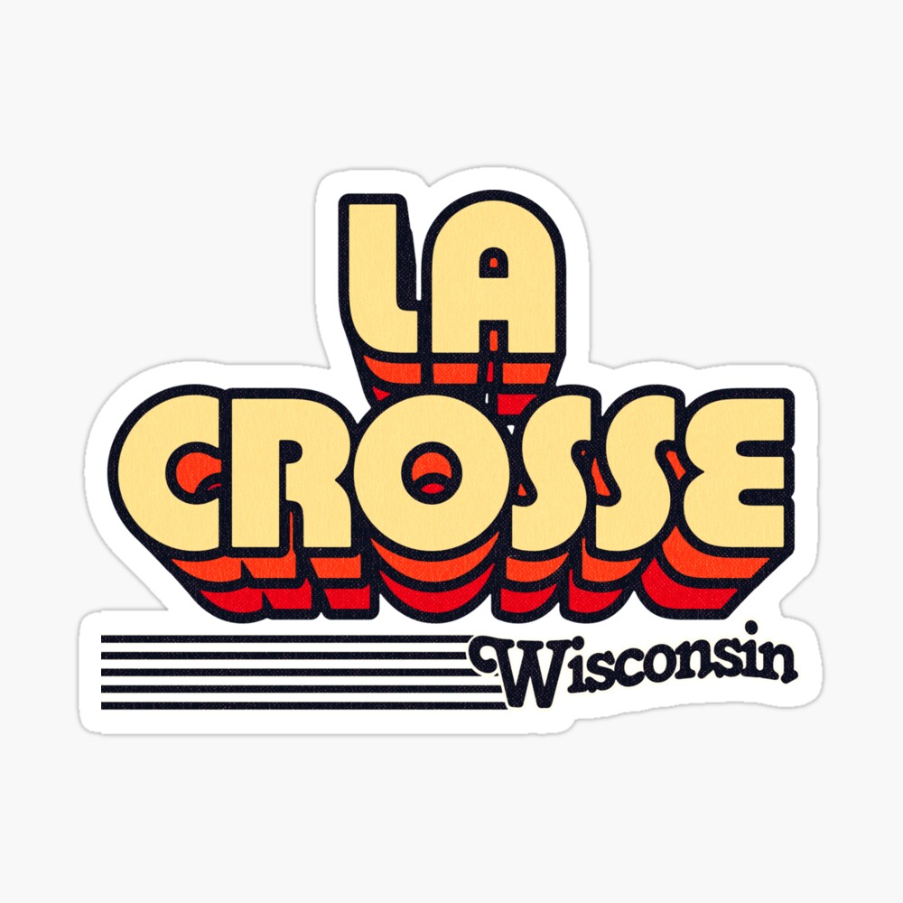 La Crosse, Wisconsin | Retro Stripes Sticker