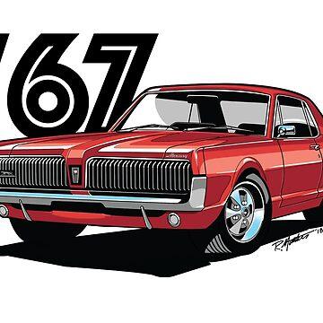 1967 Mercury Cougar- Cardinal Red by SpeedShift-Art