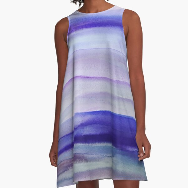 Purple Mountains' Majesty  A-Line Dress