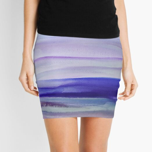 Purple Mountains' Majesty  Mini Skirt