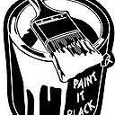 The Rolling Stones Paint It Black Sticker By Jpearson980 Redbubble