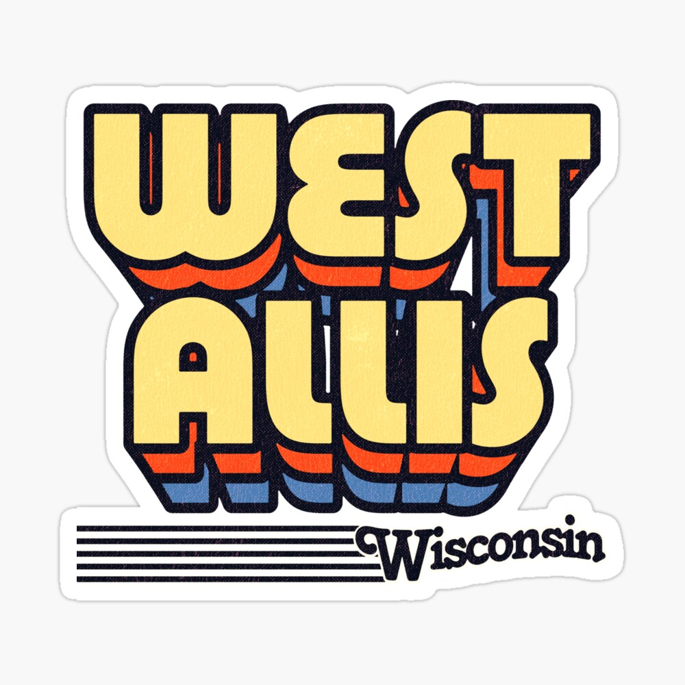 West Allis, Wisconsin | Retro Stripes Sticker