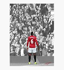 Paul Pogba's Back Photographic Print