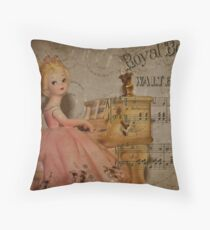 Music Girl Was Destined For Dumpster! Throw Pillow