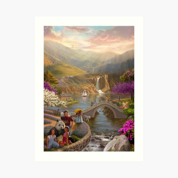 Paradise in a Valley Art Print