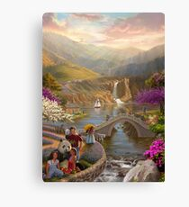Paradise in a Valley Canvas Print