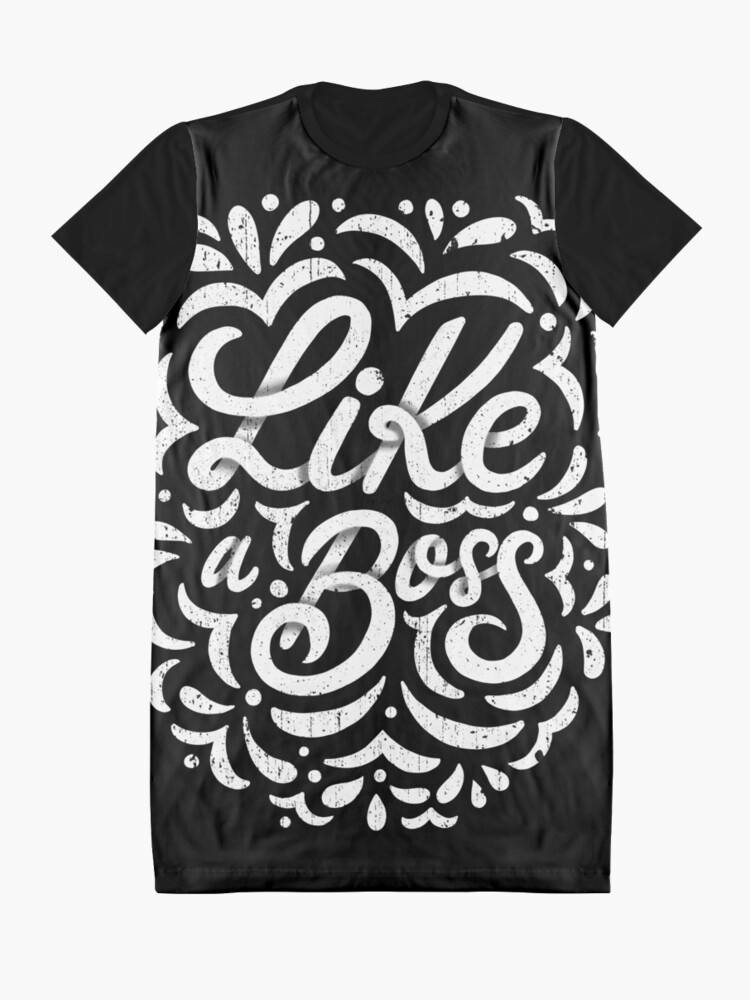 Alternate view of Like a Boss - Caligraphic design Graphic T-Shirt Dress