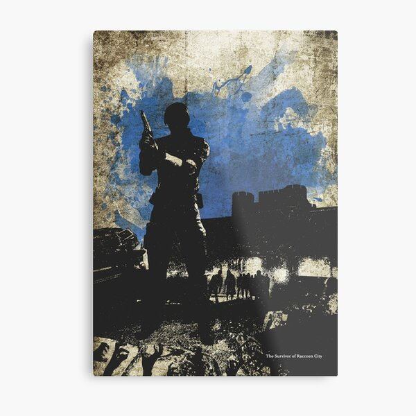 Leon Kennedy Resi 2 Minimalist Art Metal Print