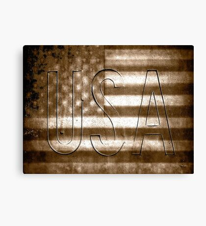 USA in Sepia Canvas Print