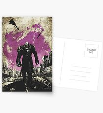 Resi Evil Minimalist Nemesis Art Postcards