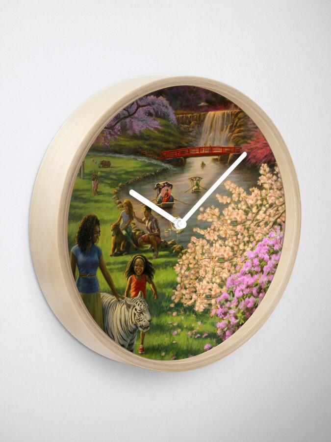 Alternate view of International Brotherhood in Paradise Clock