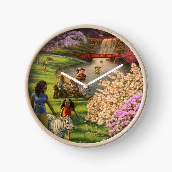 International Brotherhood in Paradise Clock