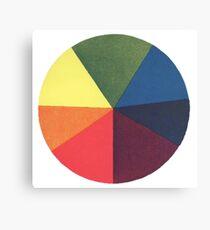 Vintage colour wheel Canvas Print