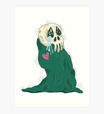 Endearing Skull Monster Art Print