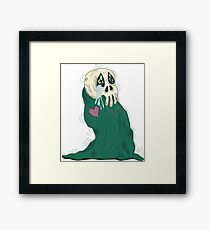 Endearing Skull Monster Framed Print